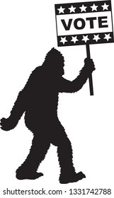 bigfoot vote sign
