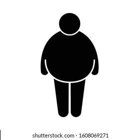 Bigger, Large, Fatter Body Pictogram