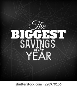 The Biggest Savings of the Year - Typographic Design