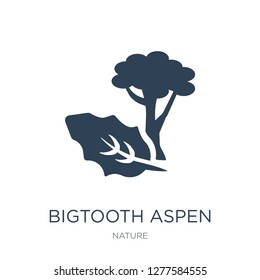 bigtooth aspen tree icon vector on white background, bigtooth aspen tree trendy filled icons from Nature collection, bigtooth aspen tree vector illustration