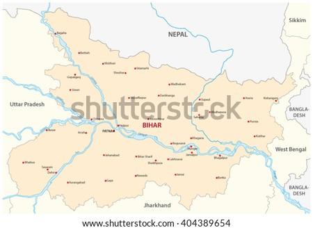 Bihar Map India Stock Vector Royalty Free 404389654 Shutterstock