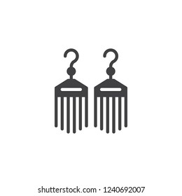 Bijouterie earrings vector icon. filled flat sign for mobile concept and web design. Female jewelry simple solid icon. Symbol, logo illustration. Pixel perfect vector graphics