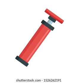 Bike air pump icon. Flat illustration of bike air pump vector icon for web design