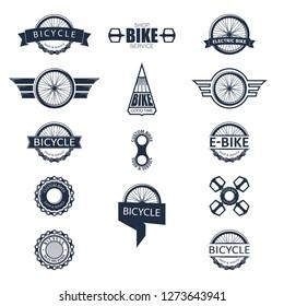 Bike badge set vector. Bike logo