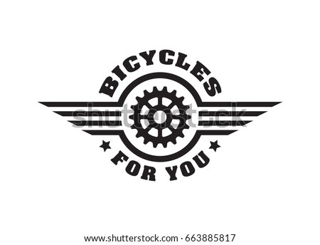 b96623fc28c Bike Badge Vintage Sports Logo Sticker Stock Vector (Royalty Free ...