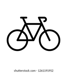 Bike, Bicycle, Sport Icon Logo Vector. Perfect For Website Mobile, App, Presentation, and Any Other Projects. Editable Stroke.