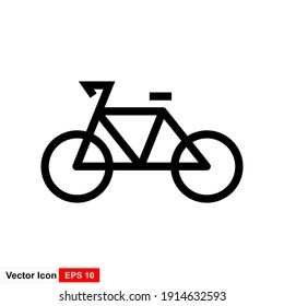 Bike. Bicycle vector icon. Concept of cycling. Go in for isolated bicycle lanes with a white background. Flat Trendy style for graphic design, logos, websites, and social media.