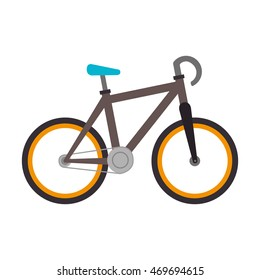 bike bicycle vehicle ride transportation vheel cyclism vector illustration isolated