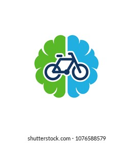 Bike Brain Logo Icon Design