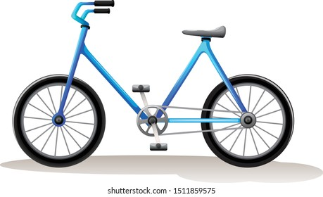 Bike cartoon vector art and illustration