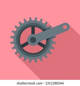 Bike crank icon. Flat illustration of bike crank vector icon for web design