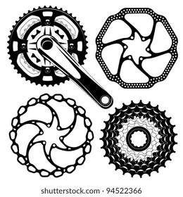 bike crankset cassette and disk brakes