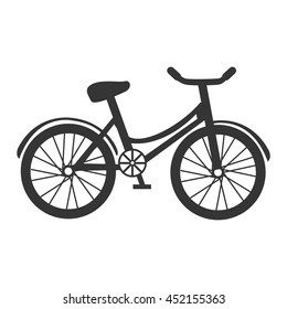 Bike and cycling sport in black and white colors, vector illustration.