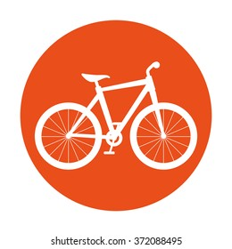 Bike and cyclism graphic design