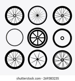 Bike design over white background, vector illustration.