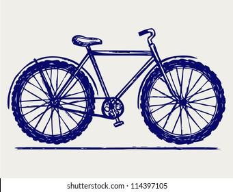 Bike. Doodle style
