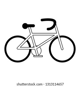 Bike eco vehicle symbol in black and white