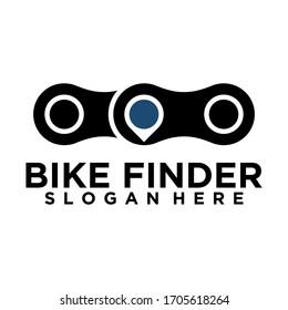 Bike finder or Location design concept