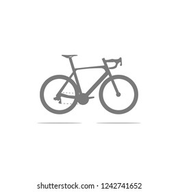 bike flat style vector icon on white background