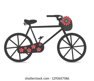 Bike with floral elements