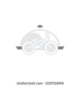 Bike Food Logo Icon Design