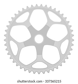 Bike gear on a white background. Vector illustration.