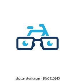 Bike Geek Logo Icon Design