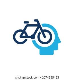 Bike Head Logo Icon Design