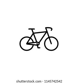 bike icon. Element of motorbike for mobile concept and web apps illustration. Thin line icon for website design and development, app development. Premium icon