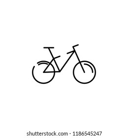 a bike icon. Element of transportation icon for mobile concept and web apps. Thin line a bike icon can be used for web and mobile