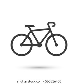 Bike icon. Flat vector illustration in black on white background. EPS 10