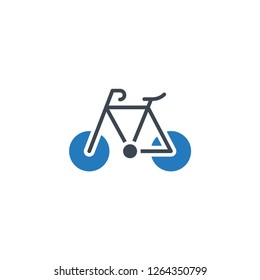bike icon is graphic & vector illustration