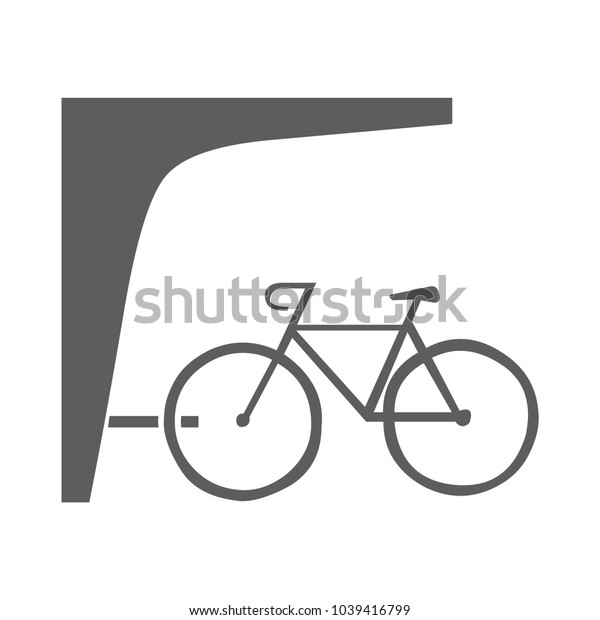 A bike icon isolated on background. Modern flat pictogram, business, marketing, internet concept. Trendy Simple vector symbol for web site design or button to mobile app. Logo illustration