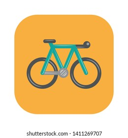 Bike icon. Outdoor lifestyle concept. Vector illustration.