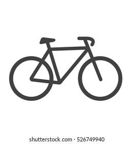 Bike icon. Bike Vector isolated on white background. Flat vector, illustration in black.