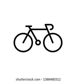 Bike icon vector logo template