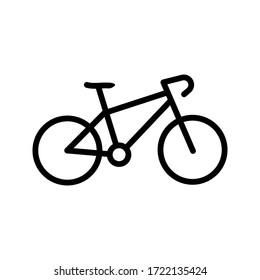 Bike icon vector logo template. simple icon. on white background