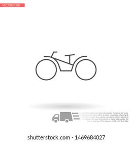 bike icon vector . Lorem Ipsum Illustration design