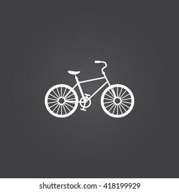 bike icon vector, solid logo illustration, pictogram isolated on black