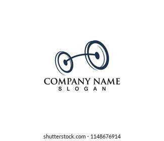Bike logo bicycle icons line black
