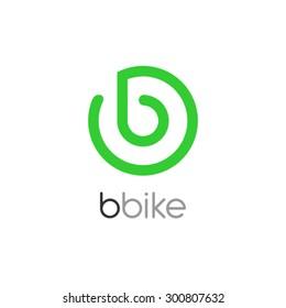 Bike Logo Design, Letter B logo design