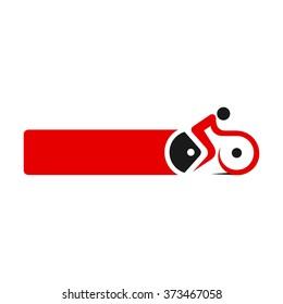 bike logo vector.