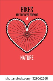 bike nature print