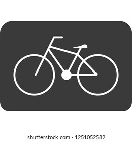 bike path icon for web and print
