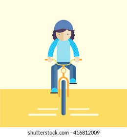 Bike ride front view icon.