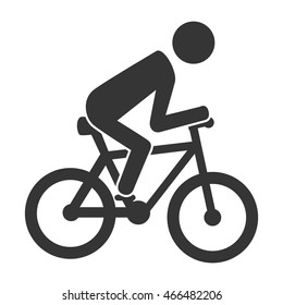 bike rider cycling, isolated flat icon design