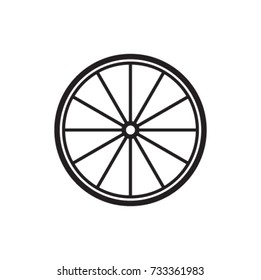 Bike Rim Icon Vector Silhouette