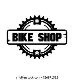 Bike Shop logo design.Chain Ring.