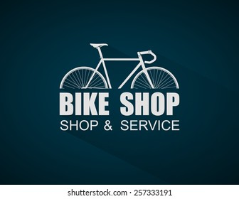 Bike Shop logo template,vector