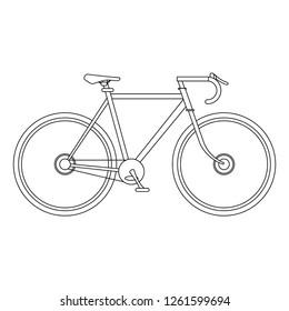 Bike sport vehicle black and white